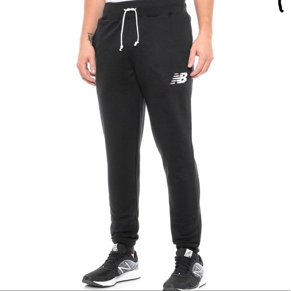 New Balance Men/'s Core Pant Slim Navy